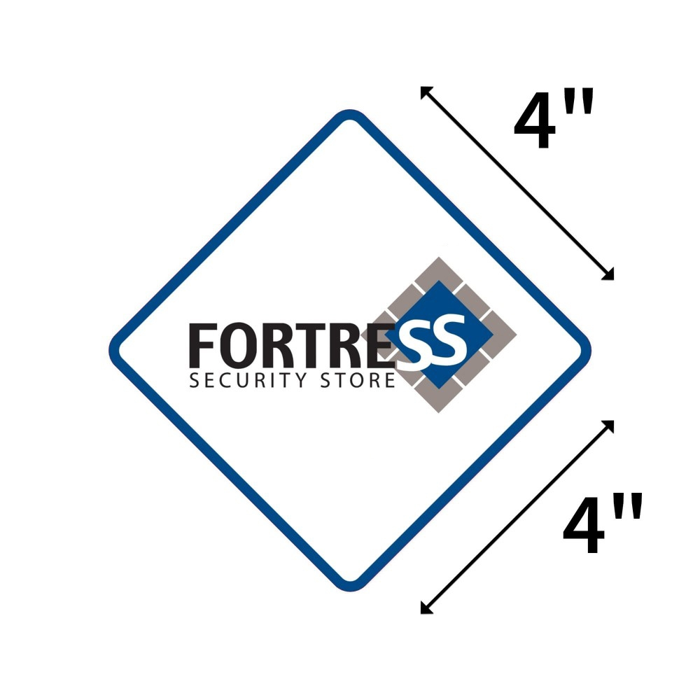 Window Sticker (Pack of 4 - Weather Resistant Vinyl with Adhesive Backing) Fortress Security Store